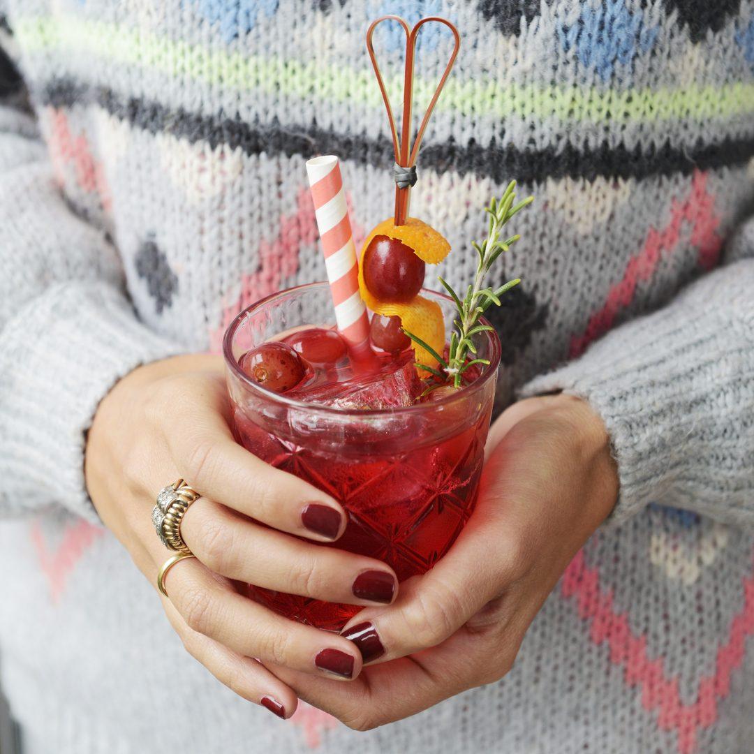 Christmas Campari cocktail