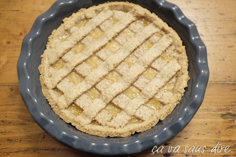 Crostata Integrale con Marmellata di Cachi Home Made